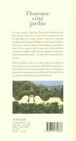 Florence Cote Jardin - 4ème de couverture - Format classique