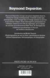 Raymond Depardon - 4ème de couverture - Format classique