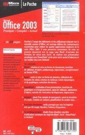 Office 2003 - 4ème de couverture - Format classique