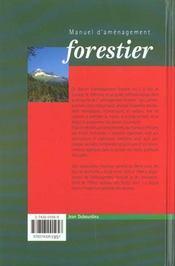 Manuel d'amenagement forestier - 4ème de couverture - Format classique