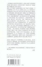 Ballet D'Ombres A Balboa - 4ème de couverture - Format classique