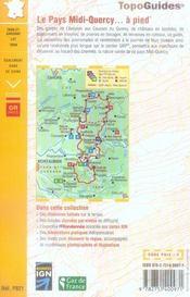Le pays Midi-Quercy à pied - 4ème de couverture - Format classique
