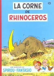 Spirou et Fantasio t.6 ; la corne de rhinocéros - Intérieur - Format classique