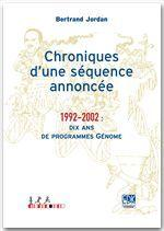 Chroniques d'une séquence annoncée; 1992-2002 - Couverture - Format classique