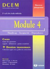 Module 4 ; handicap, incapacité et dépendance - Intérieur - Format classique