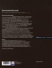 MONUMENTAL ; monumental ; dossier grottes ornées - 4ème de couverture - Format classique