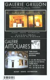 La Cote Des Peintres 2000 - 4ème de couverture - Format classique