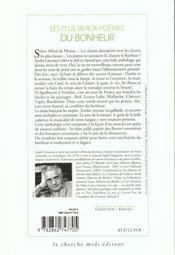 Les plus beaux poèmes du bonheur - 4ème de couverture - Format classique