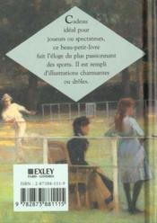 Le tennis en citations ; une selection de belles images et de beaux textes - 4ème de couverture - Format classique