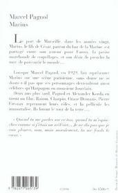 Marius - 4ème de couverture - Format classique