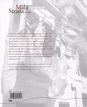 LES CONTES DE MALA STRANA - Jan Neruda. Dessins de Ludovic Debeurme et photographies de Karl Joseph - 4ème de couverture - Format classique