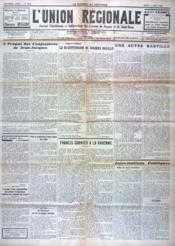 Union Regionale (L') N°1041 du 11/08/1938 - Couverture - Format classique