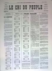 Cri Du Peuple (Le) N°28 du 29/03/1871 - Couverture - Format classique