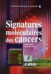 Signatures moléculaires des cancers - Couverture - Format classique