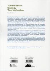 Alternative energy technologies - 4ème de couverture - Format classique