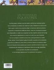Les Techniques Equestres - 4ème de couverture - Format classique
