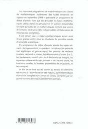 Introduction Aux Mathematiques Superieures Prepas Scientifiques Cours Et Exercices Corriges - 4ème de couverture - Format classique