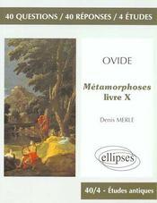 Ovide Metamorphoses Livre X - Intérieur - Format classique