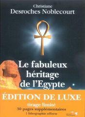 Le fabuleux héritage de l'Egypte - Intérieur - Format classique