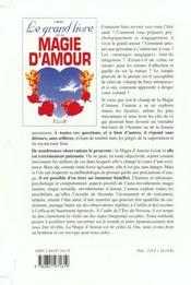 Grand Livre De La Magie D'Amour - 4ème de couverture - Format classique