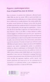 Figures Contemporaines. Ceux D'Aujourd'Hui, Ceux De Demain - 4ème de couverture - Format classique