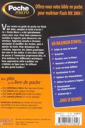 Poche Micro Flash Mx 2004 - 4ème de couverture - Format classique