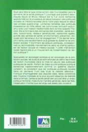 Sante Publique : Enjeu Politique Municipale. - 4ème de couverture - Format classique