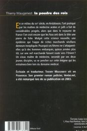 Poudre Des Rois, La - 4ème de couverture - Format classique