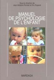 Manuel de psychologie de l'enfant - Intérieur - Format classique