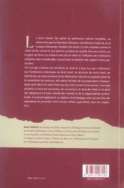 Droit Romain - 4ème de couverture - Format classique