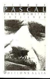 Pages D'Amitie. 1921 - 1928. - Couverture - Format classique