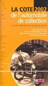 La cote automobile de collection (édition 2002) - Intérieur - Format classique