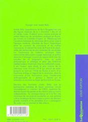 Voyager Avec Andrei Biely - Le Collecteur D'Espaces - 4ème de couverture - Format classique