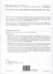 Perspective - Revue De L'Inha N.1 ; Art Et Pouvoir ; 2012/1 - 4ème de couverture - Format classique