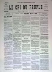 Cri Du Peuple (Le) N°29 du 30/03/1871 - Couverture - Format classique