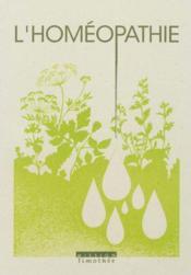 Homeopathie (L') - Couverture - Format classique