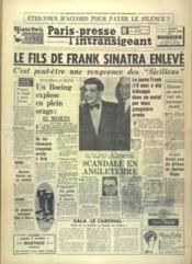 Paris Presse L'Intransigeant N°5911 du 10/12/1963 - Couverture - Format classique