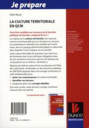 Je Prepare ; La Culture Territoriale En Qcm ; Concours De Catégories B Et C - 4ème de couverture - Format classique