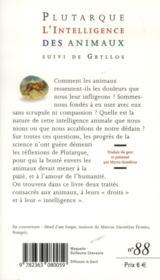 L'intelligence des animaux - 4ème de couverture - Format classique
