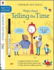 Vente livre :  Wipe-clean ; telling the time ; key skills ; age 7 to 8  - Elisa Paganelli - Holly Bathie