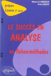 LE SUCCES EN ANALYSE ; 2e annee - Intérieur - Format classique