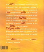 Aux pays des currys - 4ème de couverture - Format classique