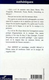 Musica Practica ; Arrangements Et Phonographies De Montverdi A James Brown - 4ème de couverture - Format classique