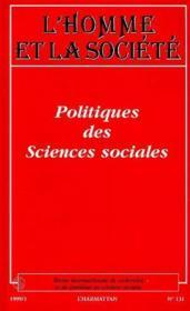 Politiques Des Sciences Sociales - Couverture - Format classique