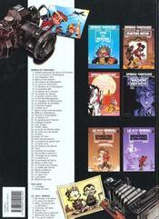 Spirou et Fantasio t.12 ; le nid des marsupilamis - 4ème de couverture - Format classique