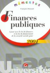 Finances publiques 2004-7eme (7e édition) - Intérieur - Format classique