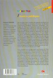 Finances Publiques 2004-7eme - 4ème de couverture - Format classique