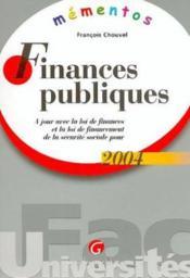 Finances Publiques 2004-7eme - Couverture - Format classique