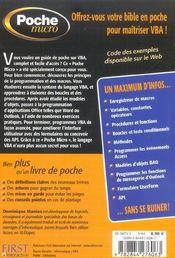 Vba Pour Office - 4ème de couverture - Format classique