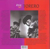 Etre torero - 4ème de couverture - Format classique
